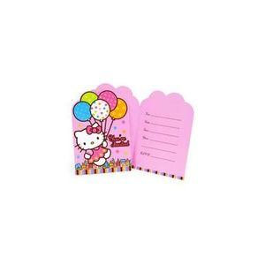 Hello Kitty Pack Of 8 Invitations